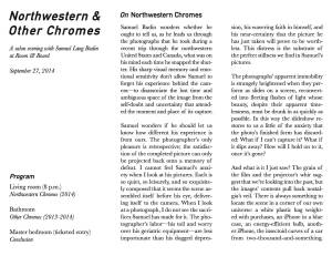 Northwestern & Other Chromes