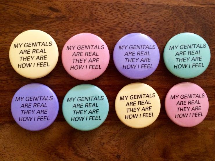 Bath piece buttons