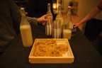 Vegan cookies and milk. Photo by Nate Boguszewski.