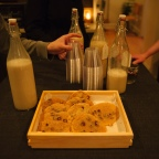 Vegan cookies and milk. Photo by Nate Boguszewski.