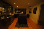 The kitchen, just before the performance begins. Photo by Nate Boguszewski.