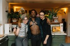 Luwayne with Julia, director, and Deborah, president of Room & Board. Photo by Nate Boguszewski.