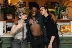 Luwayne with Julia, director, and Deborah, president of Room & Board. Photo by Nate Boguszewski.