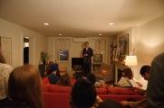 Director Julia addresses guests. Photo by Nate Boguszewski.